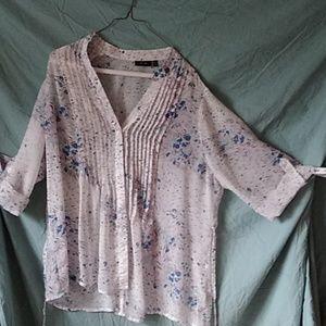Women's 1X sheer blouse